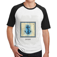 Southern Attitude Salty Anchor Navy Blue Preppy Offensive T Shirts Man S Plain Raglan Personalized