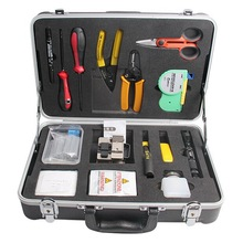 Fiber Optic Tool Bag Kit Optical Power Meter Visual Fault Locator Cable Stripper