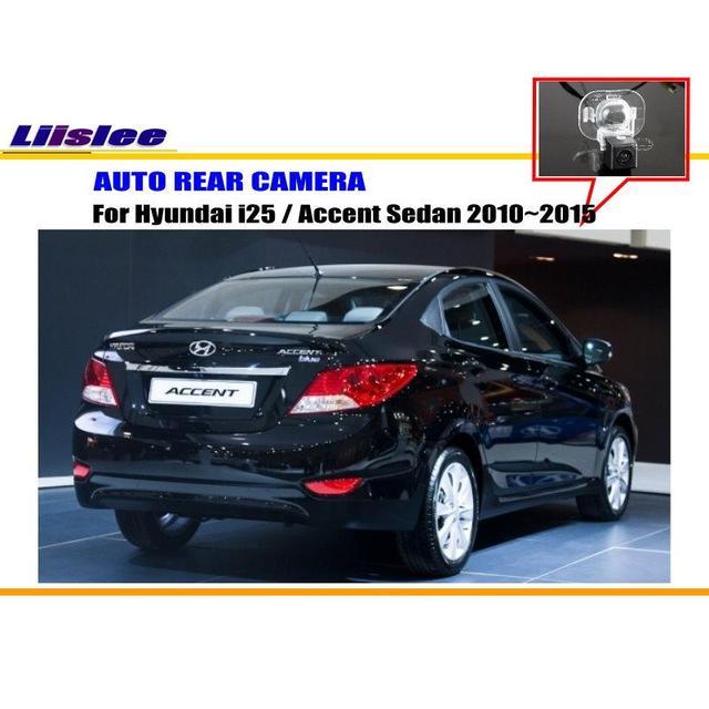 Tylna kamera samochodowa do Hyundai i25 Accent Sedan 2010-2015 kamera cofania OEM Night Vision tanie i dobre opinie Liislee CN (pochodzenie) Plastikowe + Szkło Drutu Pojazd backup kamery Z tworzywa sztucznego For Hyundai i25 Accent Sedan