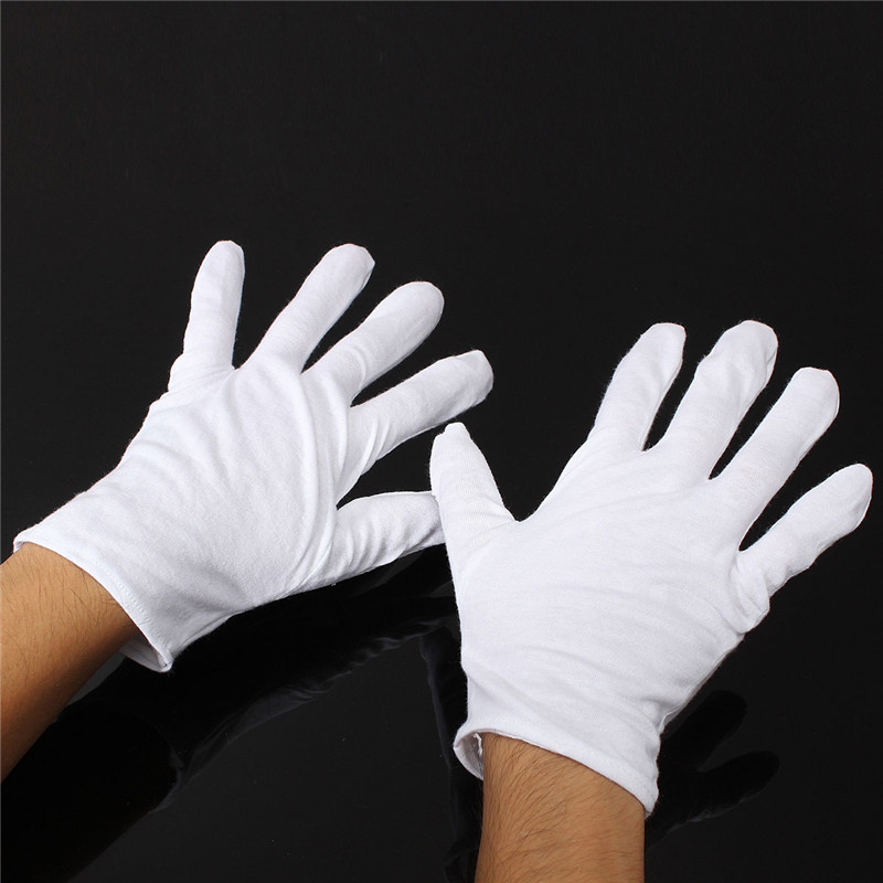 Wholesale 1 Pair Useful White Cotton Gloves For Housework Workers With Knits For Safely Security Working Labor zuru роборыбка немо в поисках дори zuru