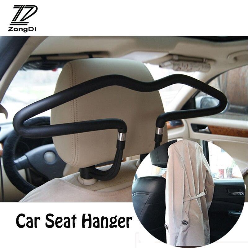ZD Automobiles For Ford Focus 2 3 Fiesta Mondeo Ranger Kuga Seat Leon Ibiza Lexus RX Car Hanger Clothes Rack Headrest Stainless