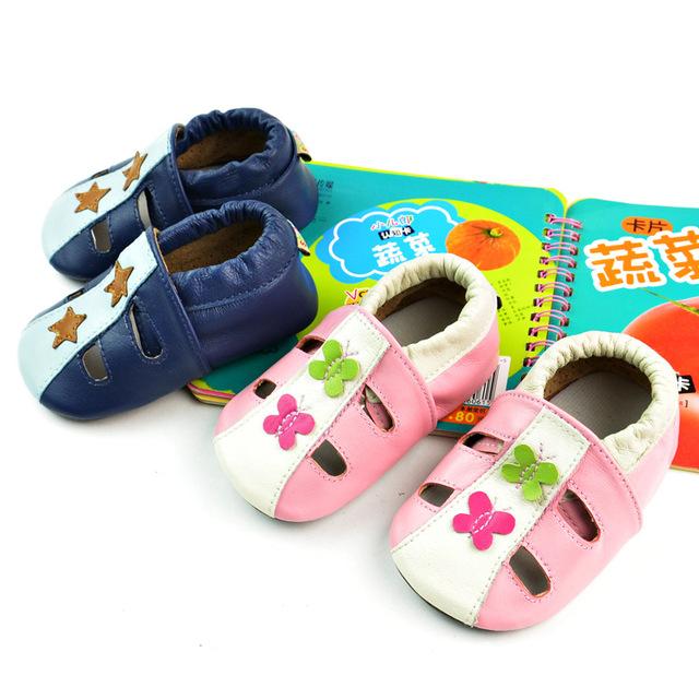2017 hot sale verão crib shoes flor confortável super qualidade do bebê da menina do menino de couro primeiro sapato da moda frete grátis