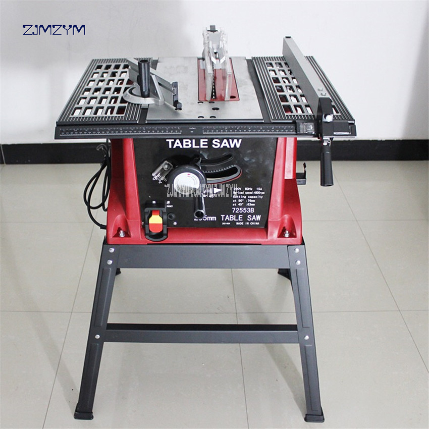 цена на 10 Sliding Woodworking Table Saw 255mm DIY Wood Circular Saw 220-240v/50hz dust-proof multifunction Electric Saw 1600w 72553B
