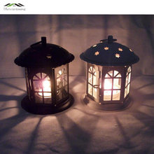 2PCS/LOT Metal Bird Cage Wedding Candle Holder Lantern Morocco Vintage Small Lanterns For Candles Decorative Cages Moroccan Lamp(China)