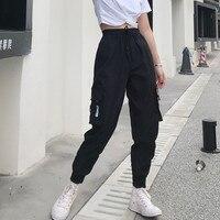 Горячие большие штаны карго с карманами женские свободные повседневные штаны с высокой талией мешковатые тактические брюки высококачеств...