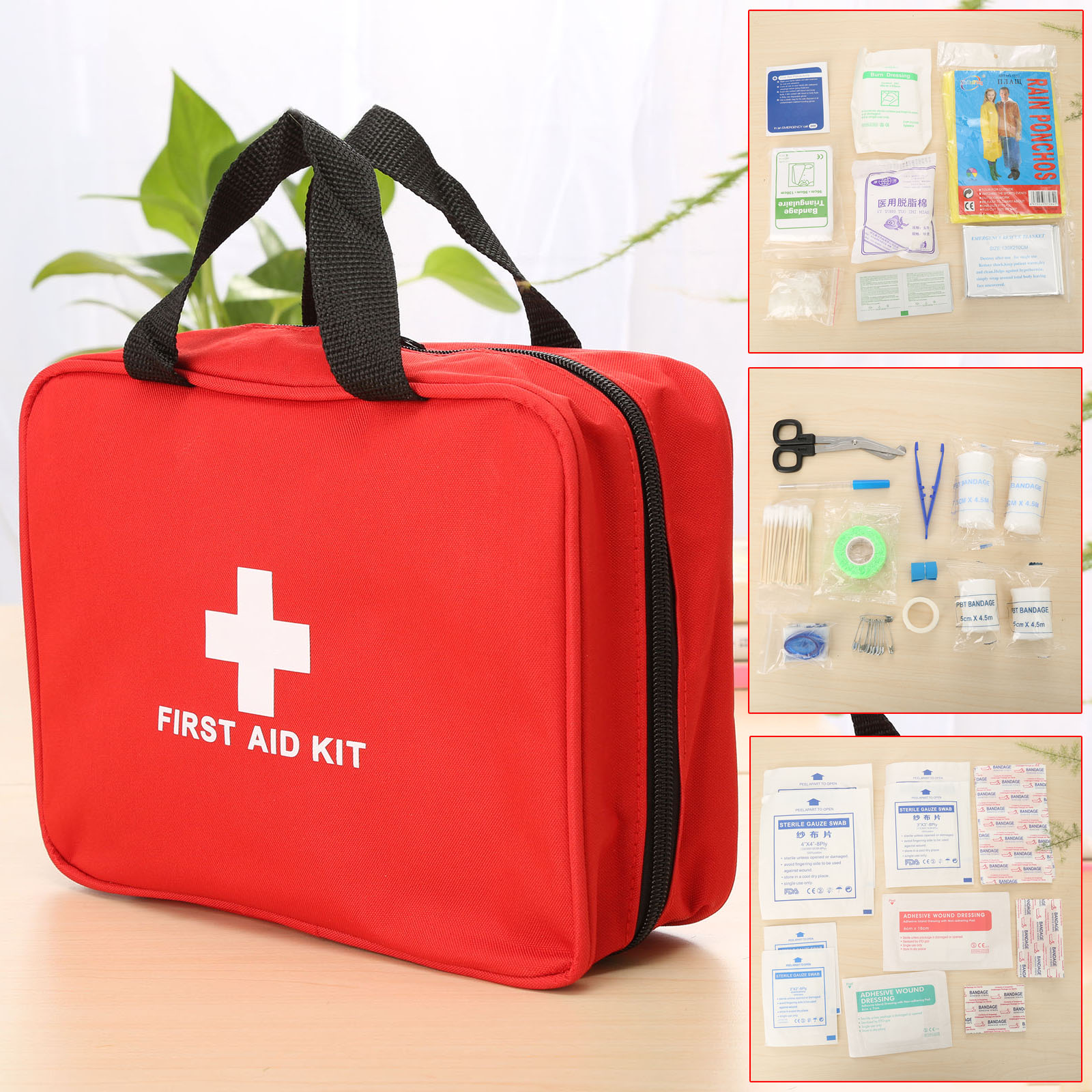 22 Kinds(94pcs) Portable First Aid Kit Military First Aid Kits Pouch Outdoor Hiking Travel Home Car Emergency Treatment Pack Bag new fashion waterproof outdoor travel home portable first aid bag carry small medical emergency kit first aid contains 11 kinds