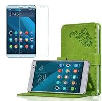 1x מגן מסך, יוקרה Folio Stand כיסוי קייס עור עור הדפסת אופנה עבור Huawei Honor MediaPad X2 X2 7
