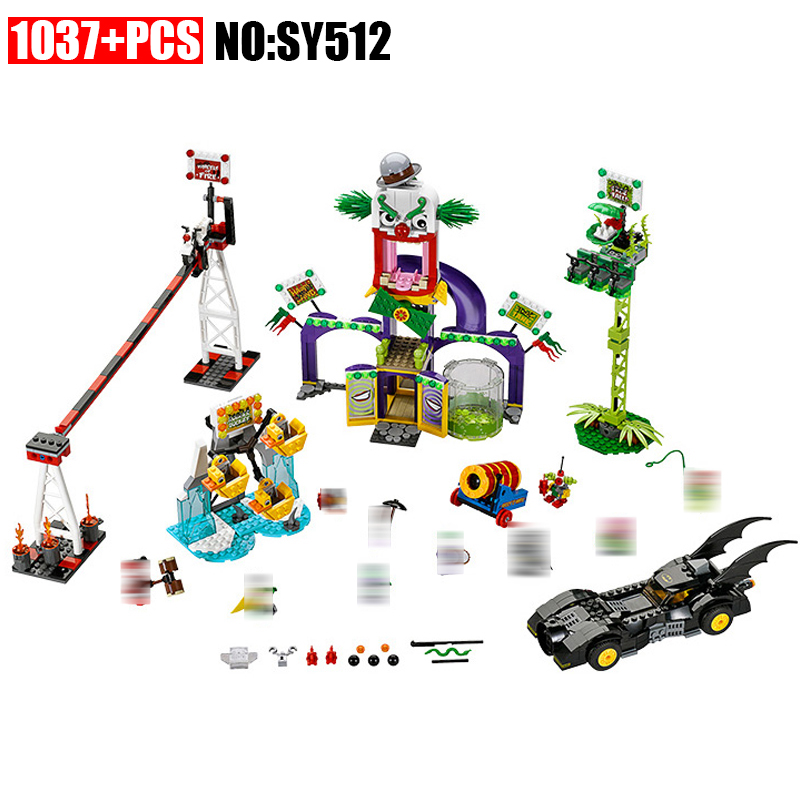 SY512 Super Heroes series the Jokerland model Building Blocks set Compatible 76035 classic education Toys for children wange mechanical application of the crown gear model building blocks for children the pulley scientific learning education toys