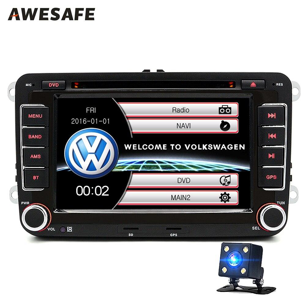 imágenes para 2 Din 7 Pulgadas de Coches Reproductor de DVD de radio del GPS bluetooth FM para Volkswagen VW golf 6 passat B7 touran sharan Lavida polo  Skoda SEAT tiguan con envío regalo