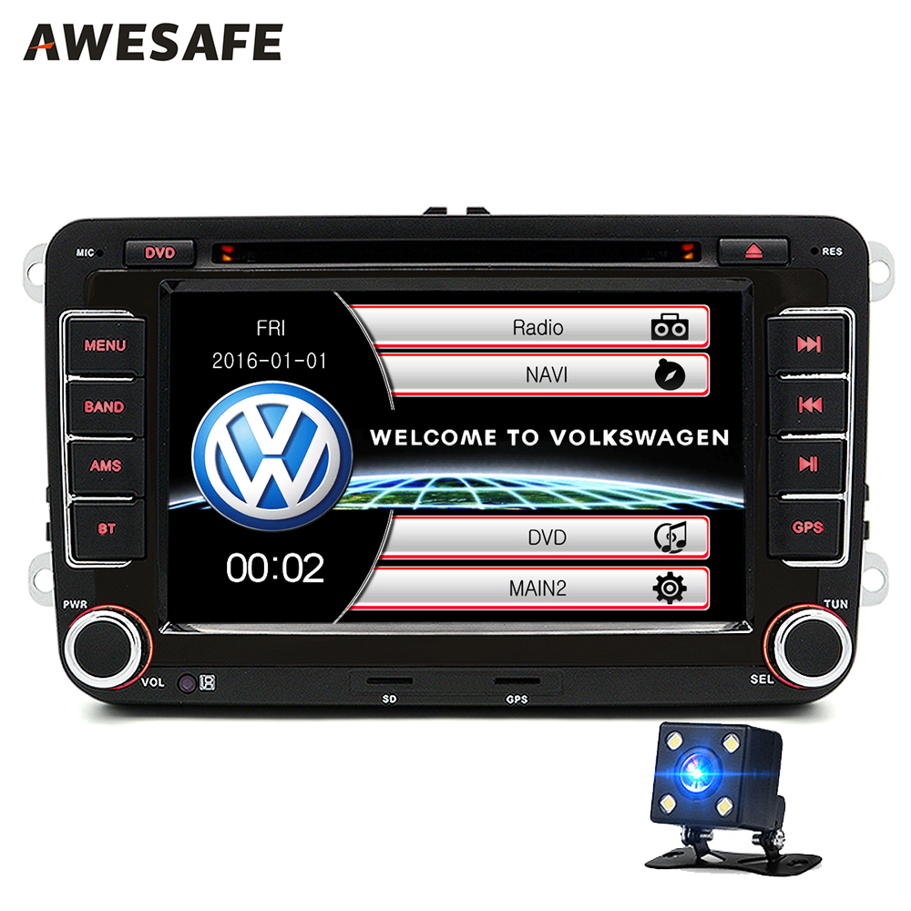 2 din 7 inch car dvd player radio stereo gps naviagation bluetooth for volkswagen vw golf touran. Black Bedroom Furniture Sets. Home Design Ideas