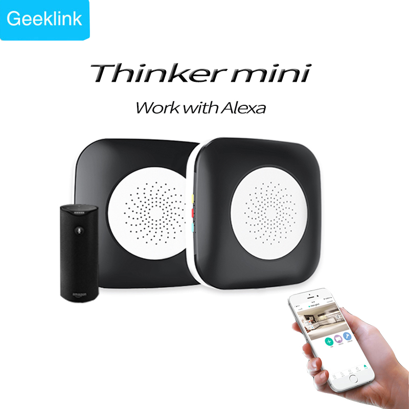 цена на Geeklink Mini Thinker Smart Home Universal Remote Controller, WIFI+ IR+RF Control Center Compatible with Alexa for smart home