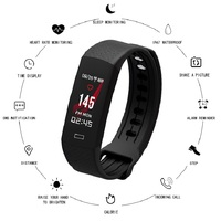 Smart Wristband Heart Rate Fitness Tracker Smart Watch Color Screen Bracelet Health Wear Sports Take Photo For Android ios