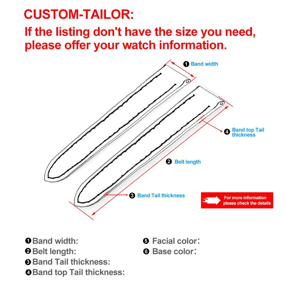 ZLIMSN bracelet en cuir de Crocodile de luxe de haute qualité rouge confortable imperméable à l'eau Fine artisanat couture 12mm-26mm pour hommes femmes - 6