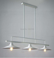 Столовая фойе свет RH Лофт 3 головки металлический оттенок подвесной светильник Северной Европы промышленности лампа накаливания подвеска