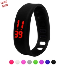 Stijlvolle groothandel Mannen Vrouwen Relogio Rubber LED Watch Datum Sport Armband Digitaal Polshorloge DROP SHIPPING J17W30 HY