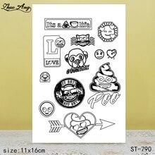 ZhuoAng  New ST-790 design transparent seal / sealed DIY scrapbook album decoration card seamless