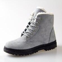 ผู้หญิงรองเท้าฤดูหนาว35-42รองเท้าหิมะขนผู้หญิงส้นรองเท้าข้อเท้ารองเท้าฤดูหนาว2016รองเท้าแฟชั่นที่อบอุ่น