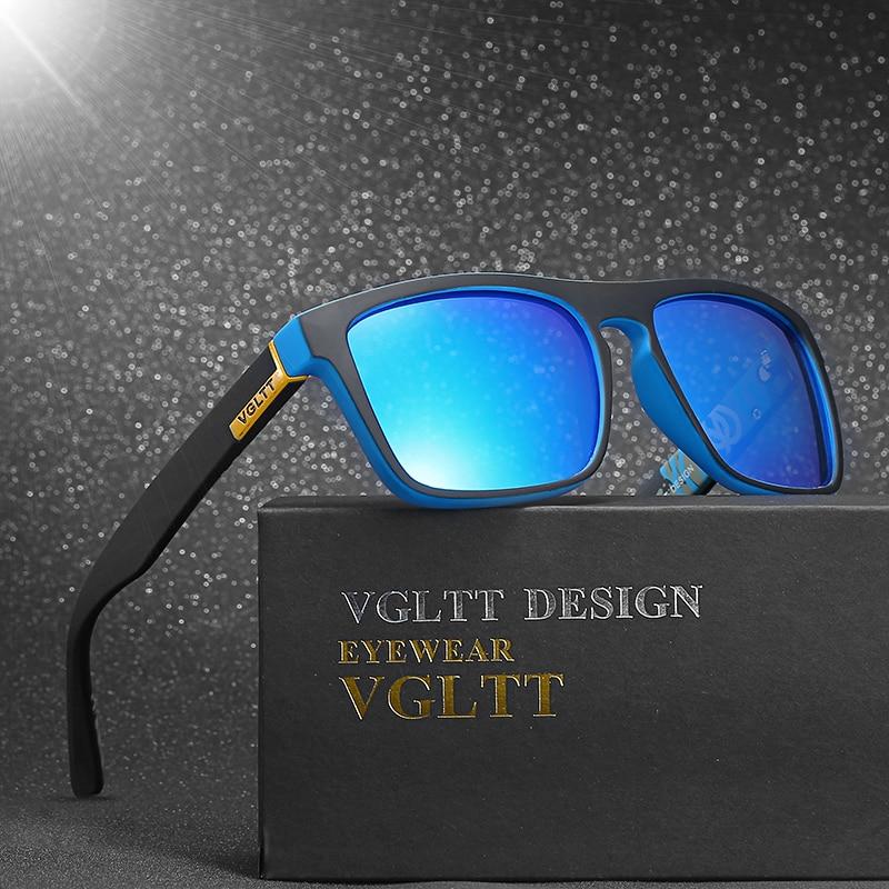 VGLTT Occhiali Da Sole Polarizzati Per gli uomini di Guida di Modo di Marca Desinger Donne Piazza Specchio Occhiali Da Sole Maschili Occhiali Con La Scatola Accessori