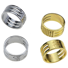 1Pcs Metal FU Word Cross Stitch Thimble Gold Silver Color DIY Sewing Protection Rings Home Common Finger Thimbles Tools