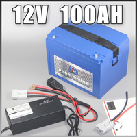 12V 100AH ABS Case Lithium ion battery 12.6V LED lamp Li ion battery