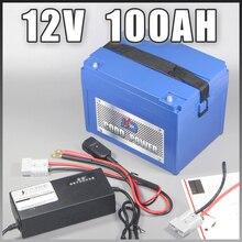 12 В 100AH ABS случае литий-ионный аккумулятор 12,6 В светодио дный лампа литий-ионный аккумулятор