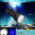 4000LM 4*Cree XM-L2+2*Blue Scuba Diving Photography Underwater 100m Flashlight