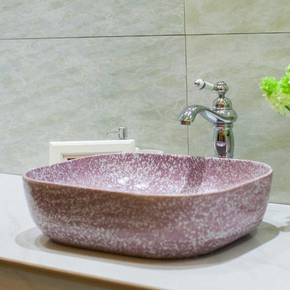 Bathroom above counter basin ceramic bathroom vanity bathroom sink basin snowflake glaze LO620144