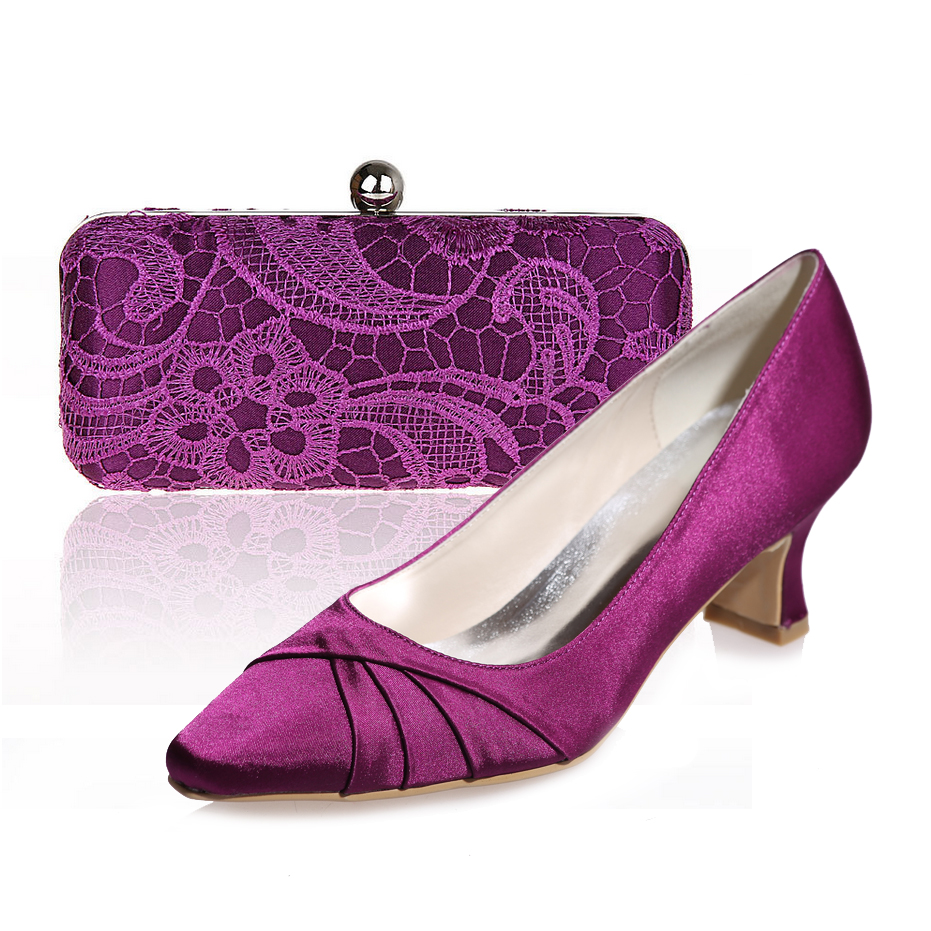 Low Heel Purple Dress Shoes