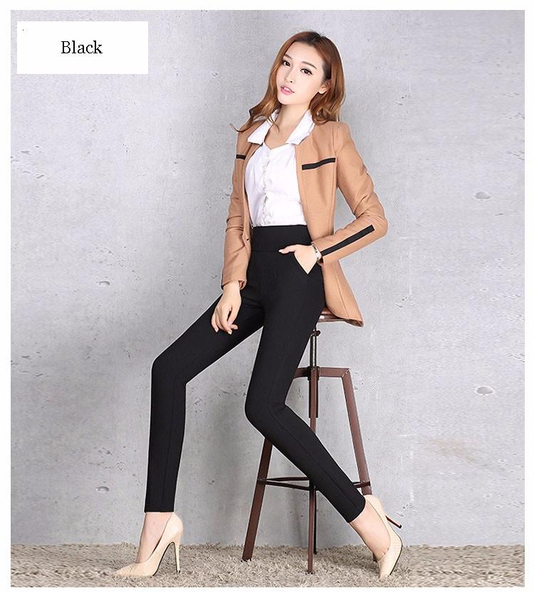 2016 New Autumn Winter Women Casual Stretch Leggings Pencil Sport Pants Skinny Leggings Women\'s Clothing Trousers Plus Size A661 d