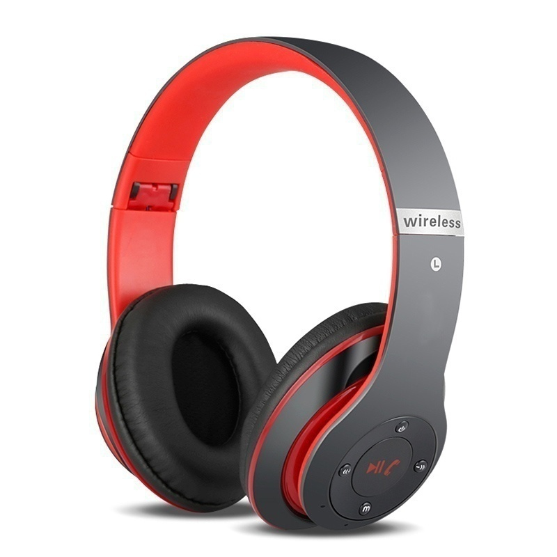 Bluetooth Headphone Stereo Sound Subwoofer Wireless Headset Foldable Adjustable With Mic Support TF Card Radio Bass For Phone PC