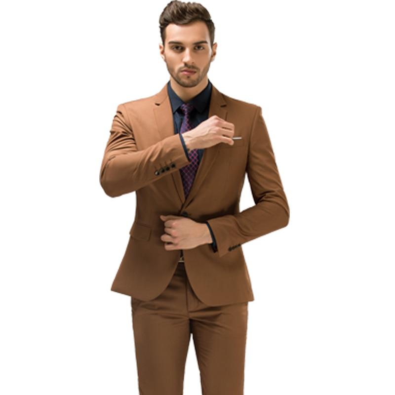 f47c930f96cbc (jacket+Pants+Vest) Luxury Trajes Para Hombre Khaki Color Vintage Men Stage  Clothing Skinny Wedding Groom Three Piece Sui