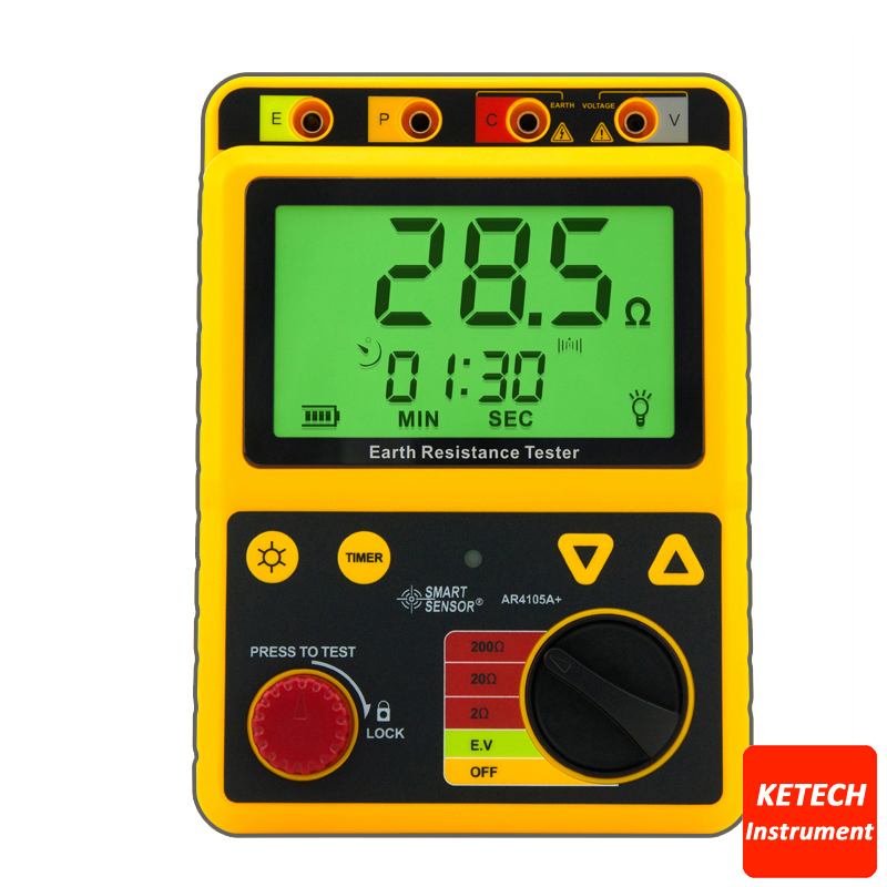 AR4105A Portable Earth Resistance Tester 2ohm/20ohm/200ohm earth 2 society vol 4 life after death