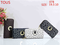 TOUS wallet Womens Wallets Purses Plaid Leather Long Wallet Hasp Phone Bag Money Coin Pocket Card Holder Female Wallets Purse