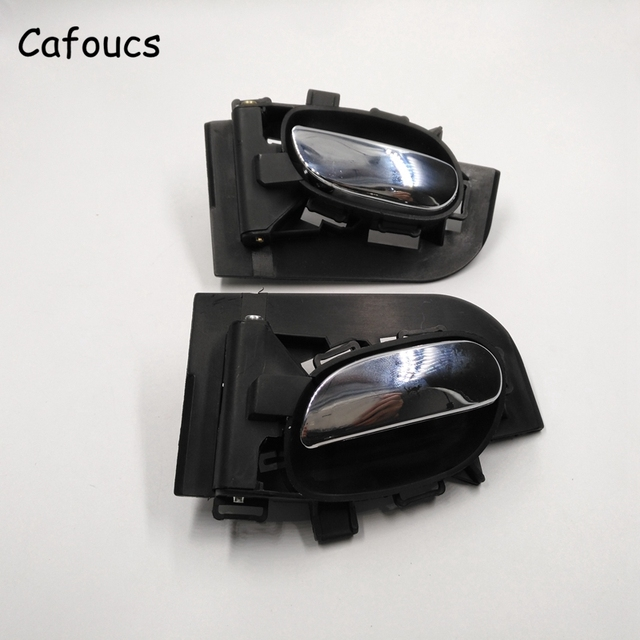 Cafoucs Car Chrome Inside Door Handle For Peugeot 206 207 For