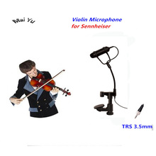 Free Shipping Lapel Condenser Viola Mandolin Violin Microphone Instrument Microfone for Sennheiser Wireless System TRS 3.5mm free shipping luthier tools violin viola clamps high quality durable