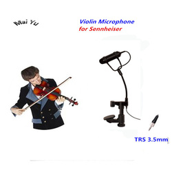 Professional Lapel Condenser Mandolin Violin Microphone Instrument Microfone for Sennheiser Wireless System TRS 3.5mm Screw Jack