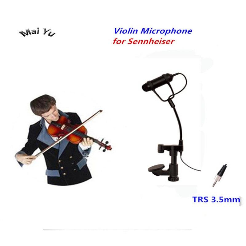 Professionnel revers condenseur mandoline violon Microphone Instrument Microfone pour Sennheiser système sans fil TRS 3.5mm vis Jack