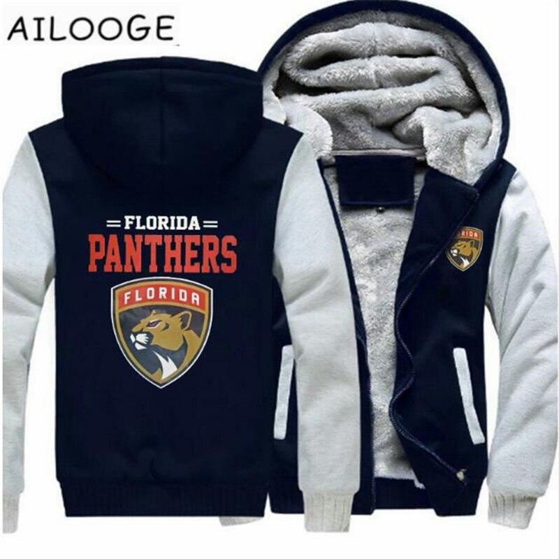 2018 Florida Panther Sweatshirt Warm Fleece Thicken Jacket Zipper Coat Hoodies & Sweatshirts Up-to-date Jacket