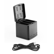 TELESIN 3-way 3 Porto Multi-função com Carregador USB-Tipo C Cabo Hub Doca de carregamento Da Bateria Caso Caixa De Armazenamento para GoPro Hero 5