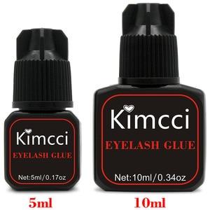 Image 5 - Клей для ресниц Kimcci 5 мл, быстросохнущий клей для наращивания ресниц 1 3 секунды, Клей Pro клей для ресниц черный клей для удержания ресниц