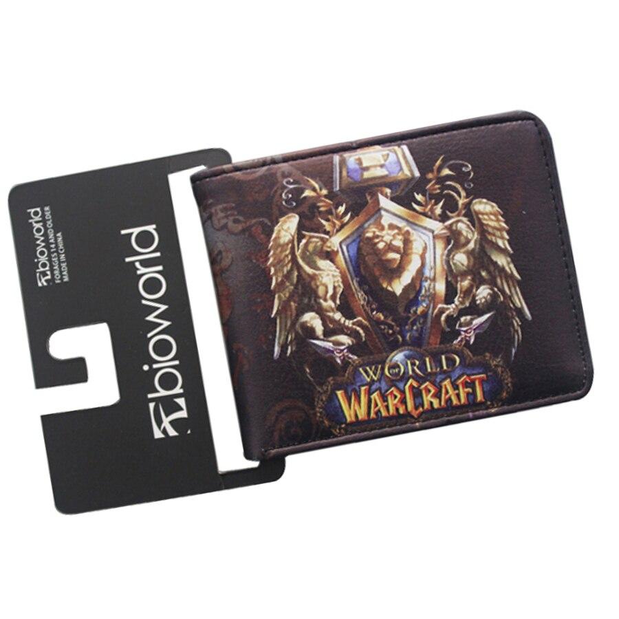 WORLD OF WARCRAFT Game Wallets Students 2 fold Slim Short Men Purse Leather Prints Bifold Billeteras Boy Gift Money Cards Pocket