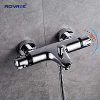 ROVATE Badezimmer Thermostat Dusche Wasserhahn Wand Montiert, Heißer Kaltem Wasser Mixer Konstante Temperatur Control Mixer Wasser Ventil