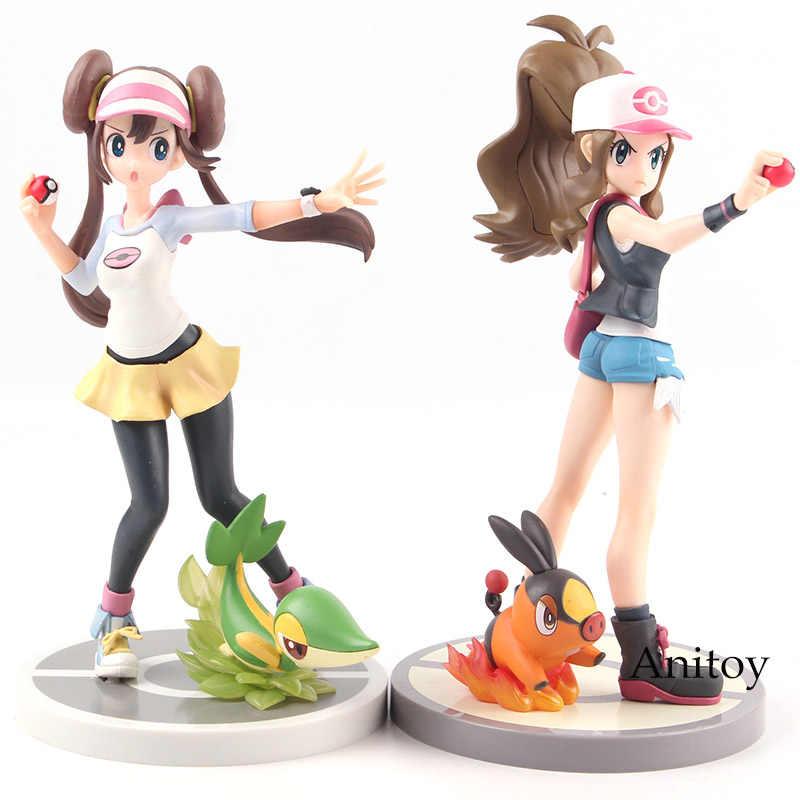 KOTOBUKIYA Artfx Touko com Pokabu Tepig/Mei com Snivy Tsutarja PVC Anime Action Figure Toy Collectible Modelo