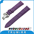 18mm 20mm 22mm Genuine Leather Watch Band for CK Calvin Klein Stainless Butterfly Buckle Strap Wrist Belt Bracelet + Spring Bar