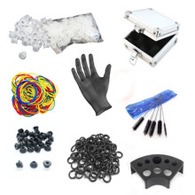 Tattoo Ink Cup/Gloves/Cleaning Brushes/Rubber Bands/Grommets/ O Rings/Case Professional Tattoo Accesories Supply Free Shipping