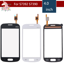 10pcs/lot For Samsung Galaxy Trend Lite S7390 7392 GT-S7390 S7392 Touch Screen Digitizer Sensor Front Glass Lens Replacement for samsung galaxy trend lite s7390 s7392 lcd display panel monitor screen repair replacement part free tracking