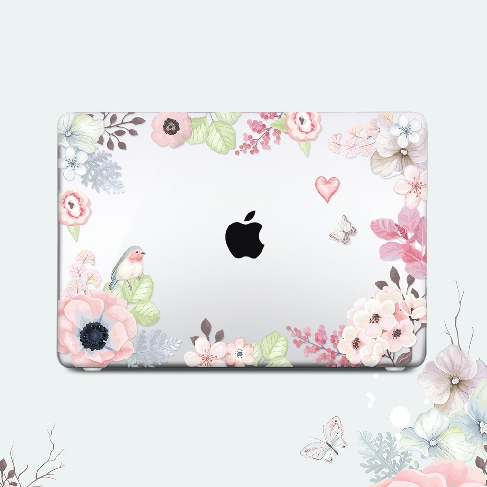 Floral Printing Hard Case for MacBook 108