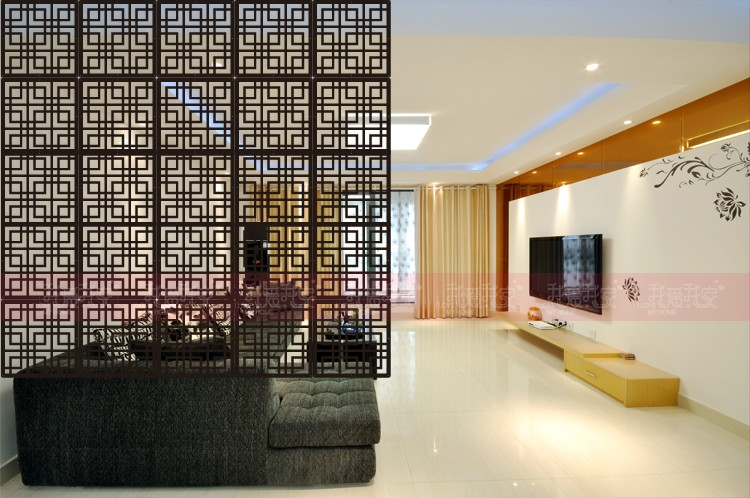 Partisi Interior Room Dividers Wood Screen Partition Wall Hanging