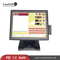 Kostenloser Versand Made In China 15 Zoll Resistive Touch Screen Kassensystem/Kasse Mit Kartenleser Und VFD für Supermarkt