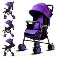 Convertible Push Handle Baby Stroller Umbrella Baby Carriage Trolley Baby Pram Pushchair for Newborn Cheap Travel Baby Stroller